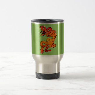 Gold and Orange Dragon for Chinese New Year Travel Mug