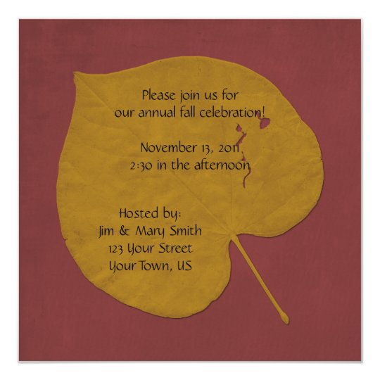 Gold and Orange Fall Celebration Invitation