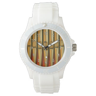 Gold and orange pipes watch