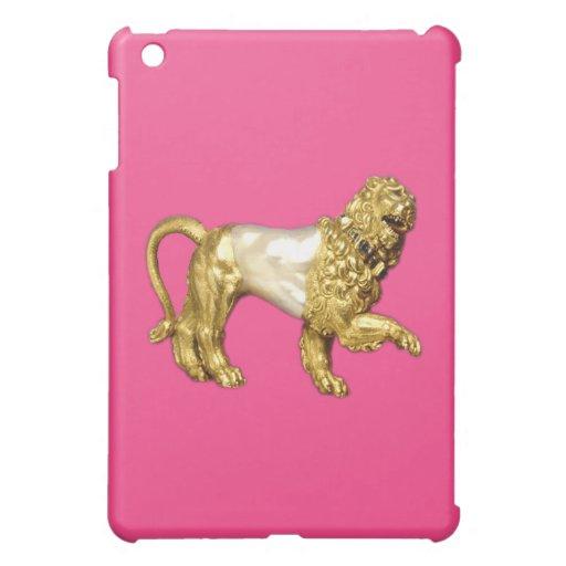 Gold and Pearl Jeweled Lion art iPad Mini Case
