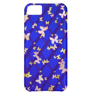 Gold and pink butterfly iPhone 5C case