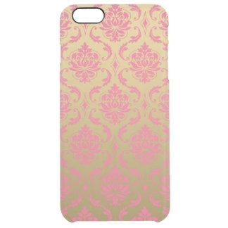 Gold and Pink Classic Damask Clear iPhone 6 Plus Case