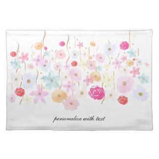 Gold and Pink Garden Floral Placemat