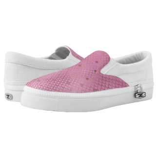 Gold and Pink Mermaid Scales Slip-On Shoes