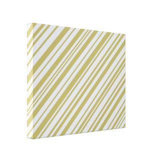 Gold and Platinum designer stripes Canvas Print