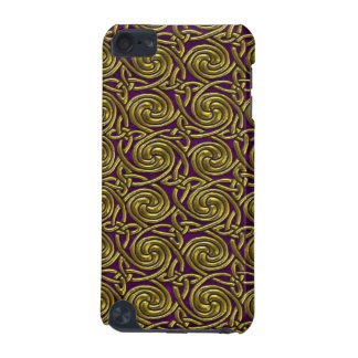 Gold And Purple Celtic Spiral Knots Pattern iPod Touch 5G Case