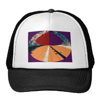 Gold and Purple Diamond Pyramid Patterns 12 Hats