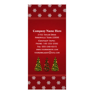 Gold and Red Christmas Tree Rack Cards