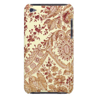 Gold And Red Lace Roses Barely There iPod Case