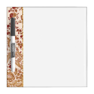 Gold And Red Lace Roses Dry Erase Board