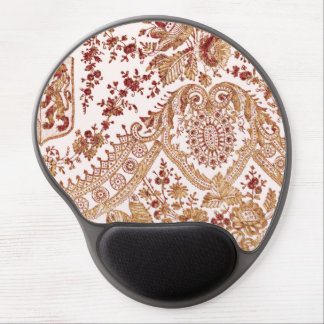 Gold And Red Lace Roses Gel Mouse Pad
