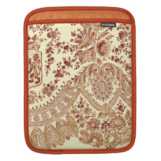 Gold And Red Lace Roses iPad Sleeve