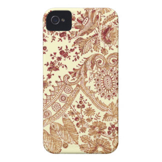 Gold And Red Lace Roses iPhone 4 Cases