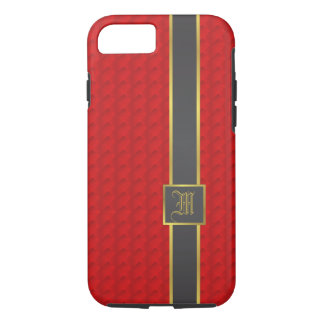 Gold and red leather iPhone 8/7 case