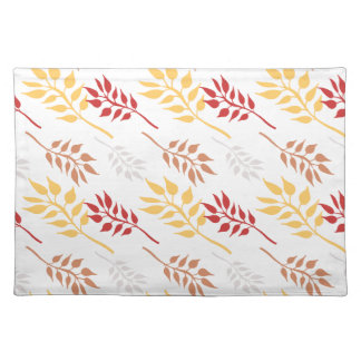 Gold and Red Leaves Place Mat