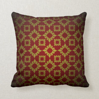 Gold and Red Pillow