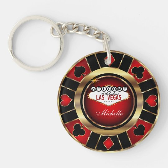 Gold and Red Poker Chip Design - Personalise