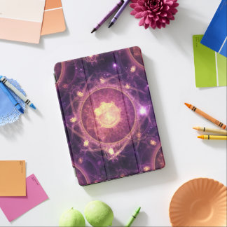 Gold and Royal Purple Fractal Mandala of the Stars iPad Pro Cover