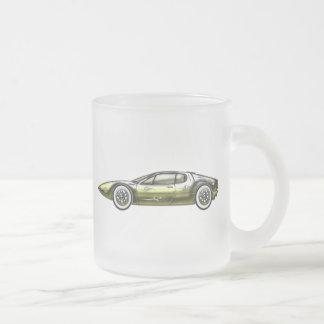 Gold and Siler Sports Car Mugs