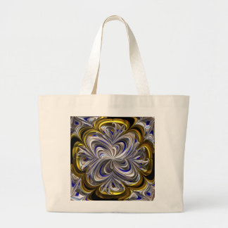 Gold and silver Abstract Canvas Bags
