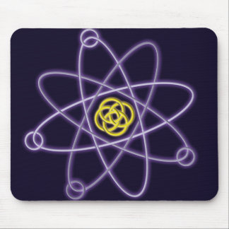 Gold and Silver Atomic Structure Mouse Mat