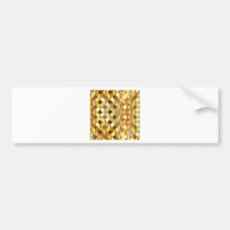 Gold and silver background bumper sticker
