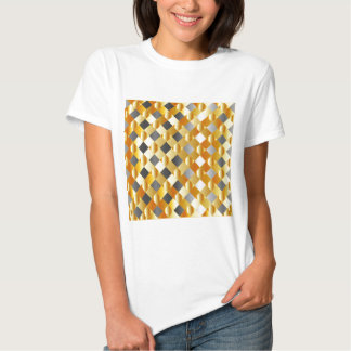 Gold and silver background t shirt