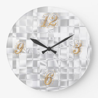 Gold and Silver Bling Wall Clock