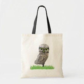 Gold and Silver Burrowing Owl Coastal Art Tote Bag