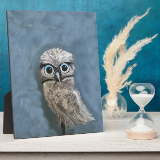 Gold and Silver Burrowing Owl Decor Plaque