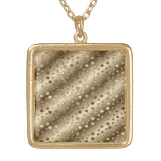 Gold and Silver Circles in a Pattern over Stripes Pendant