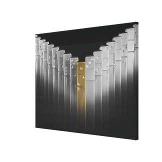 Gold and silver dominoes canvas print