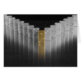 Gold and silver dominoes card
