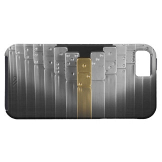 Gold and silver dominoes iPhone 5 cases