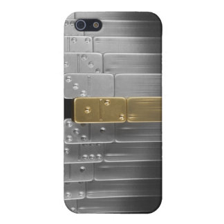 Gold and silver dominoes iPhone 5 cover