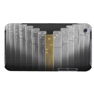Gold and silver dominoes iPod Case-Mate cases