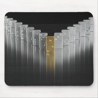 Gold and silver dominoes mouse mat