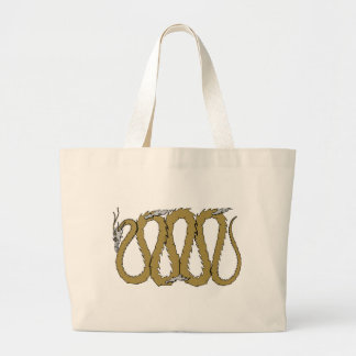 Gold and Silver Dragon Plate Bags