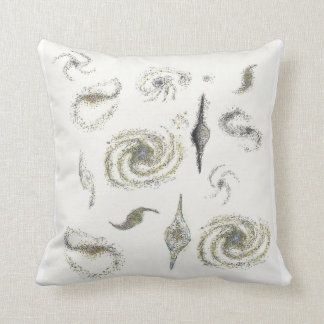 gold and silver galaxies pillow