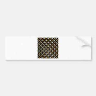 Gold and silver grids bumper sticker
