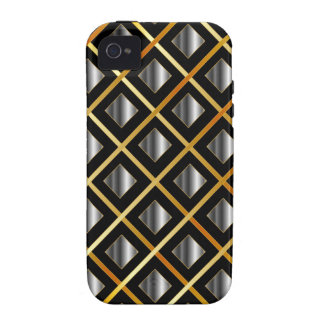Gold and silver grids iPhone 4/4S cases