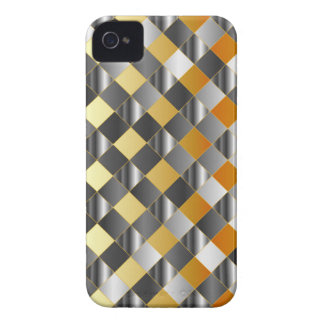 Gold and silver grids iPhone 4 case