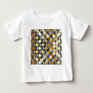 Gold and silver grids t shirt