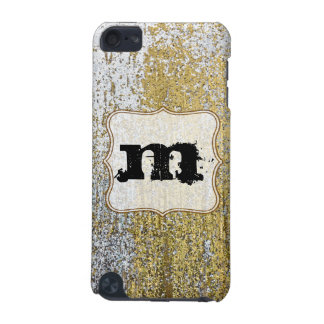 Gold and Silver Grunge Monogram Initial IPOD Touch iPod Touch (5th Generation) Covers