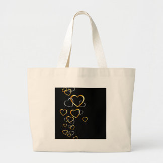 gold and silver hearts background bags