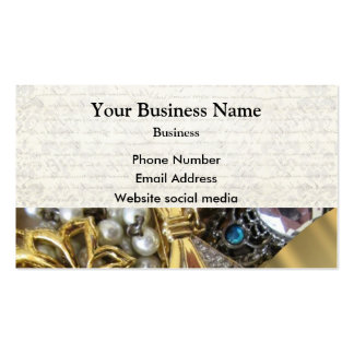 Gold and silver jewelry pack of standard business cards