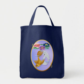 Gold and Silver Koi with Lilies  Bags
