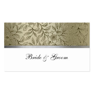 Gold and Silver Metallic Place Cards Business Card Template