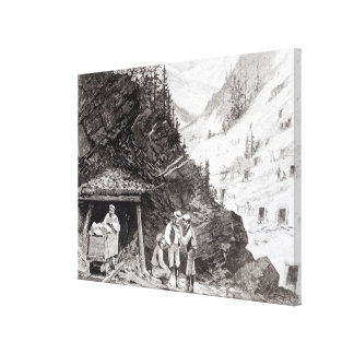 Gold and Silver Mining Canvas Print