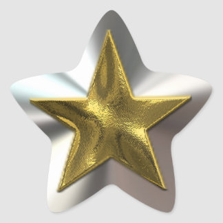Gold And Silver Shining Star Stickers